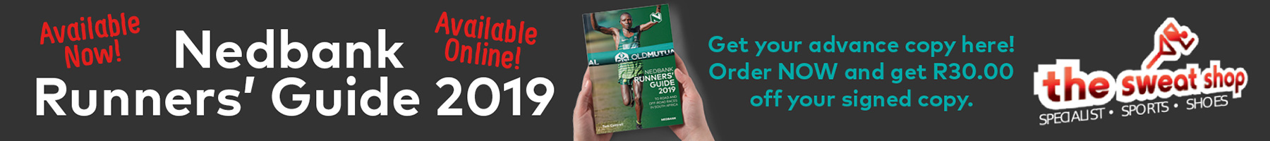 Runners' Guide 2019 discount banner- Sweatshop